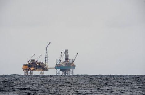 منصة نفطية في بحر الشمال