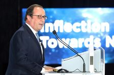 Former French leader Francois Hollande's first speech on international affairs since leaving the Élysée in May touched on global issues including climate change, economic protectionism and populist politics
