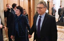 Senator Al Franken, shown with his wife Franni Bryson (L) as they arrived at the US Capitol, has said he will resign in the coming weeks, but added he was shocked at the allegations against him