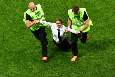 Russia's Pussy Riot charged over protest at World Cup final