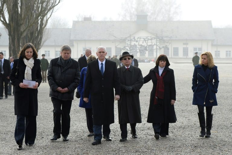 Vice President Mike Pence visits Dachau concentration camp