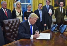 Before arriving at the Oval Office, President Donald Trump's strategists had decided to use the first few weeks to unleash a daily wave of executive orders
