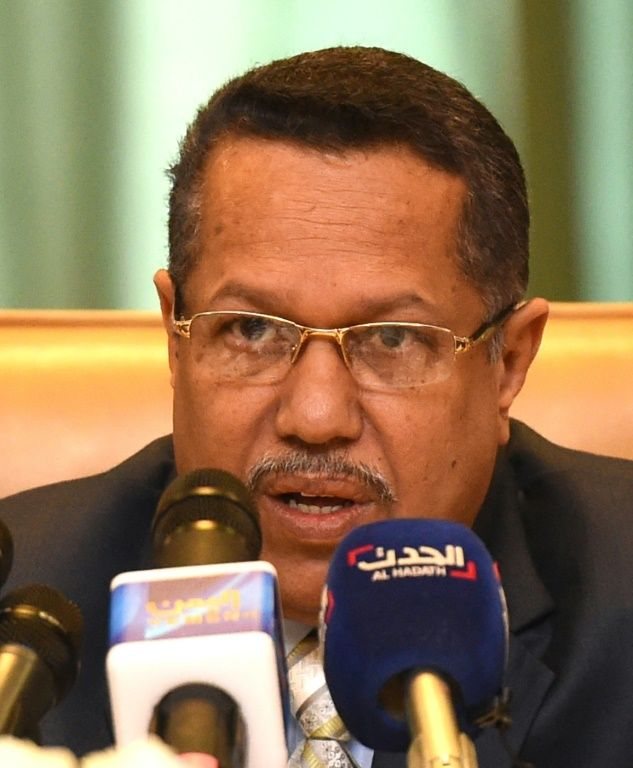 Yemeni Prime Minister Ahmed bin Dagher, pictured in Riyadh, on May 18, 2016, told rebels and their allies, supporters of former president Ali Abdullah Saleh, that they had no choice other than to make peace