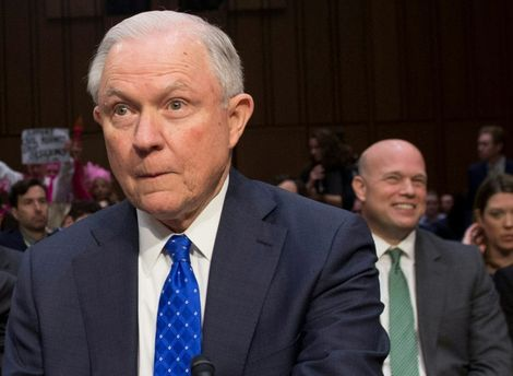 In an op-ed in August last year Matthew Whitaker (r), seen here alongside his former boss Jeff Sessions during a Senate Judiciary Comittee hearing last year, called for the Russia probe to be pared down