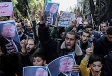 Palestinian supporters of the Islamic Jihad movement protest US President Donald Trumps's decision to recognise Jerusalem as the capital of Israel, in the town of Rafah in the southern Gaza Strip