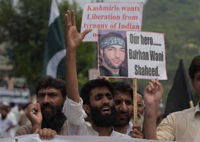 The disputed territory of Kashmir has been gripped by week of intensifying unrest sparked by killing of popular young rebel commander Burhan Wani in a firefight with government forces on July 8