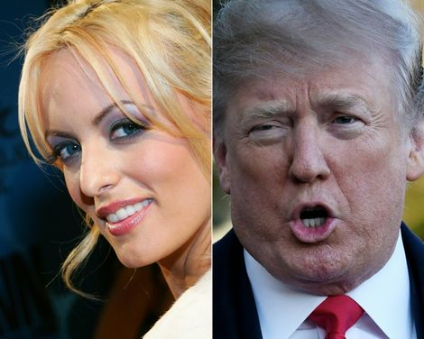 """Porn actress Stormy Daniels told CBS's """"60 Minutes"""" that she was threatened by a man in a Las Vegas parking lot after she agreed to sell her story about an affair with Donald Trump in 2011"""