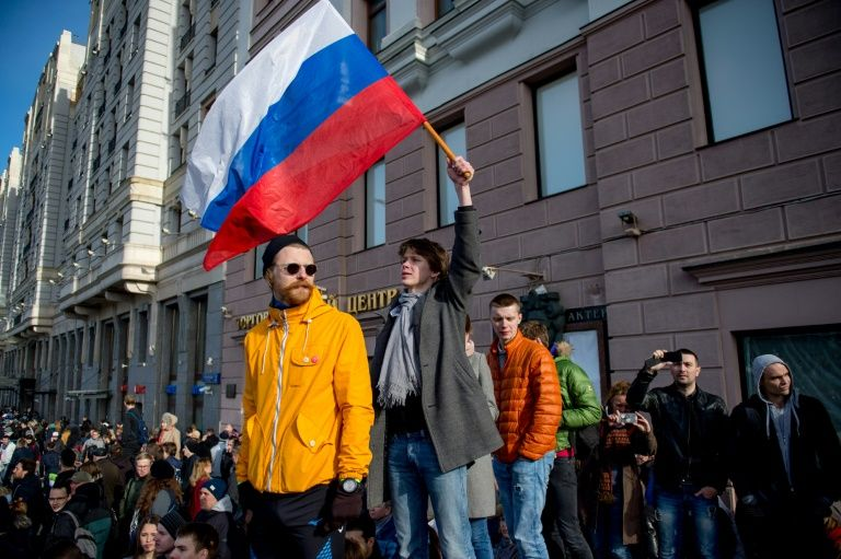 موسكو تشهد تظاهرات ضد الفساد تتخللها الاعتقالات بالمئات