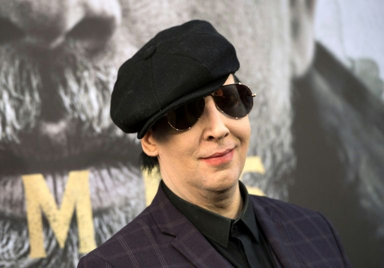 Marilyn Manson injured by falling stage prop during NY  rock concert