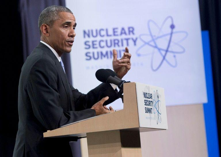 Le président des Etats-Unis Barack Obama lors d'une conférence à l'issue du sommet sur le nucléaire, à Washington le 1er avril