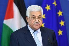 Le président palestinien Mahmoud Abbas, le 27 mars 2017 à Bruxelles