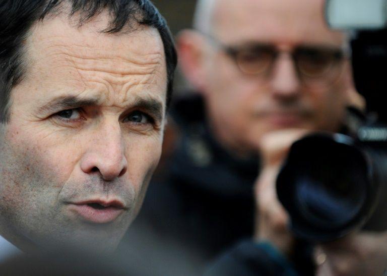 Le candidat à la présidentielle Benoît Hamon à Folschviller, dans l'est de la France, le 3 février 2017