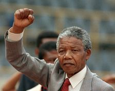 Nelson Mandela was eventually freed from prison in 1990 and went on to become South Africa's president between 1994 and 1999 before dying in 2013 aged 95
