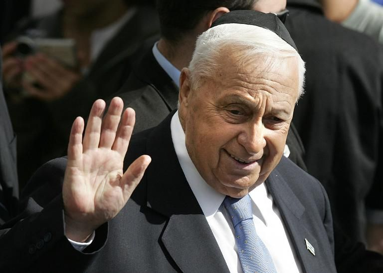 Israeli Prime Minister Ariel Sharon, pictured in Sde Boker in the Negev desert on December 7, 2005
