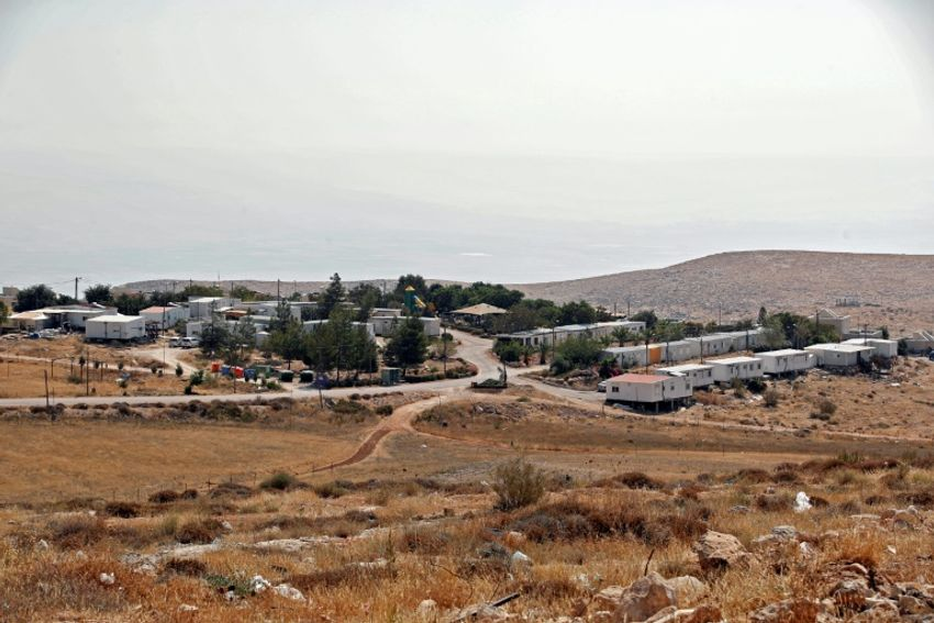 Vue d'ensemble de l'implantation israélienne de Mitzpe Kramim, près de Ramallah en Judée-Samarie, le 29 août 2018