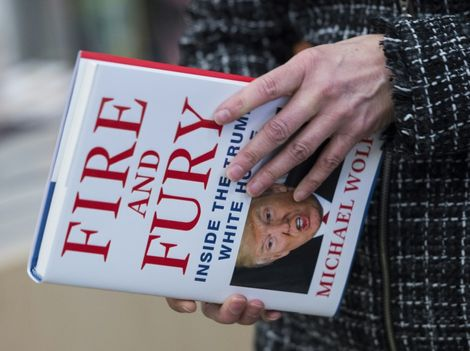 """""""Fire and Fury: Inside the Trump White House"""" by Michael Wolff, quickly sold out in bookstores in the US capital, with some even lining up at midnight to get their hands on it"""