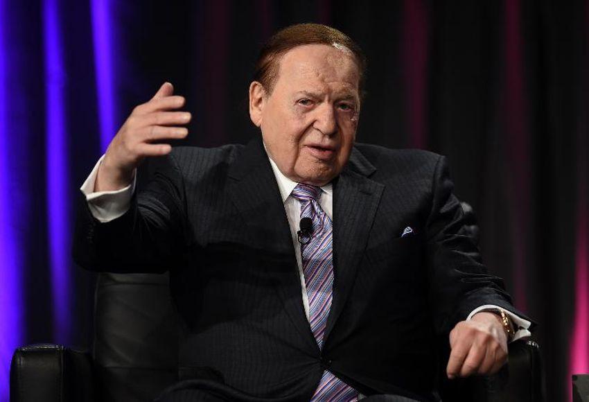 Le multimilliardaire Sheldon Adelson, qui s'est mobilisé en faveur de Benyamin Netanyahou pour les élections israéliennes, le 1er octobre 2014 à Las Vegas.