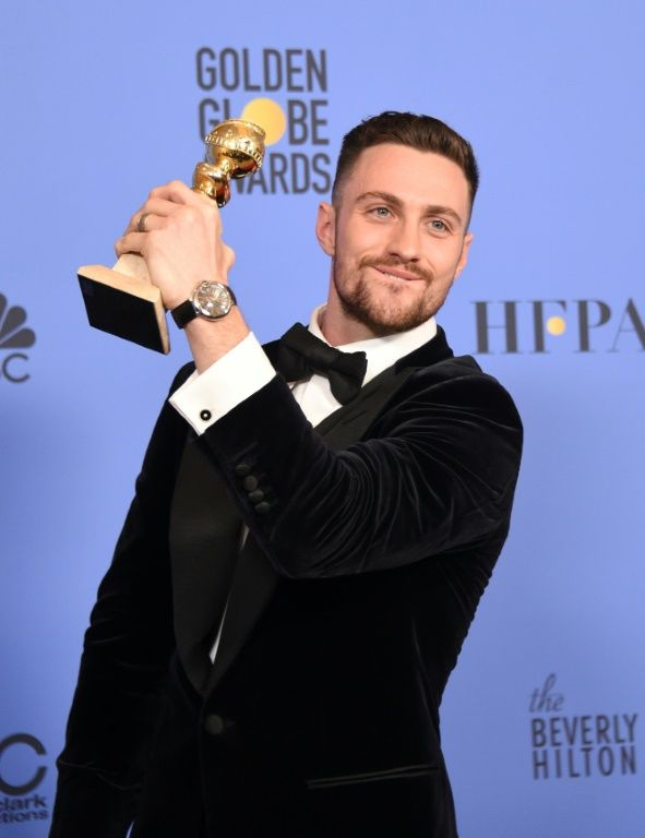 """Aaron Taylor-Johnson for """"Nocturnal Animals"""" was awarded best supporting actor at the Golden Globes, January 8, 2017"""