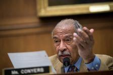 John Conyers, ici pendant une audition le 26 octobre 2017, siège depuis 1965 à la Chambre des représentants