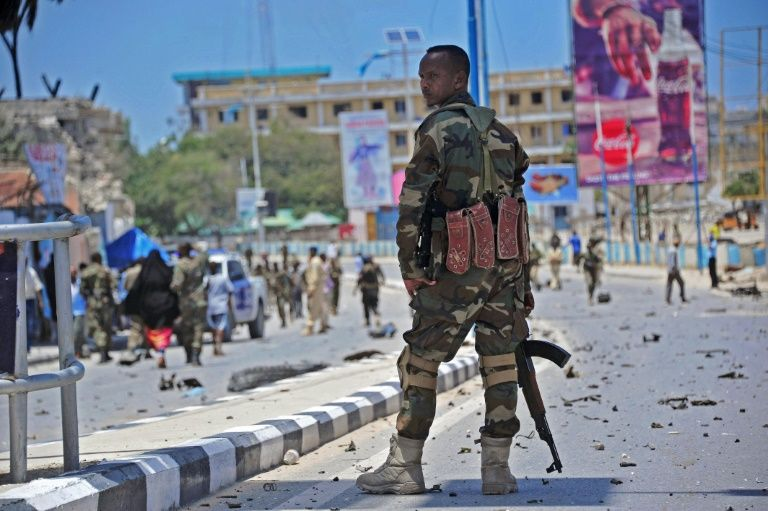 Two vehicle bombs explode near Mogadishu hotel, police say