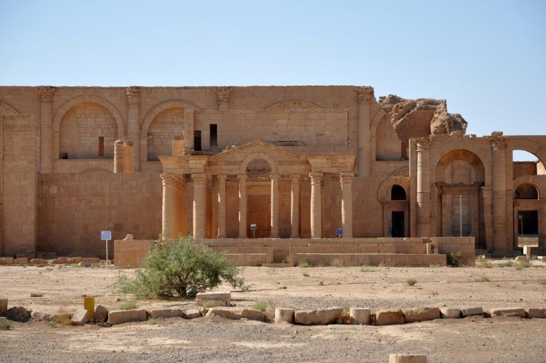 The Hellenistic Temple of Mrn at the ancient fortress city of Hatra on October 13, 2010