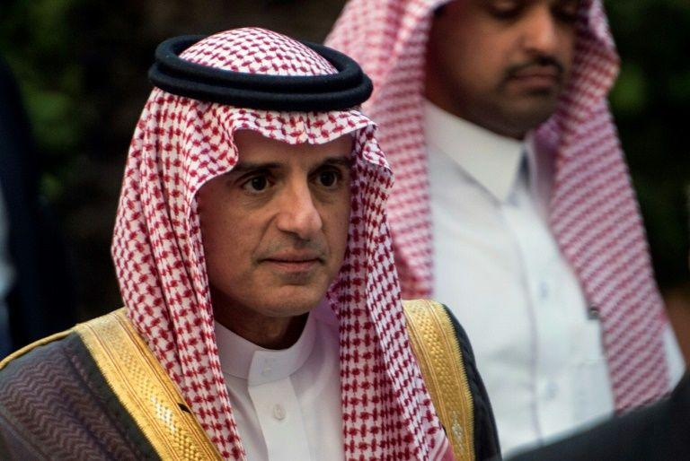 Le chef de la diplomatie saoudienne Adel al Jubeir à la réunion de la Ligue arabe au Caire le 19 novembre 2017KHALED DESOUKI