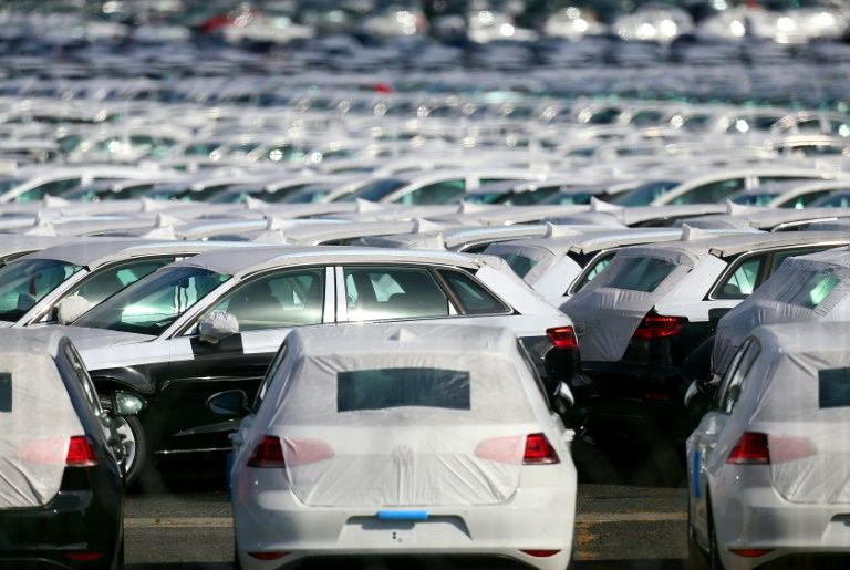 Cars Parked At The Logistics Park Of German Auto Giant Volkswagen In Villers Cotterets Francois Nascimbeni Afp File
