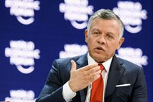 King Abdullah of Jordan, seen here speaking at last month's economic forum in Davos, Switzerland, said Sunday that the United States remains essential to any hope of a peaceful solution between Israel and the Palestinians.