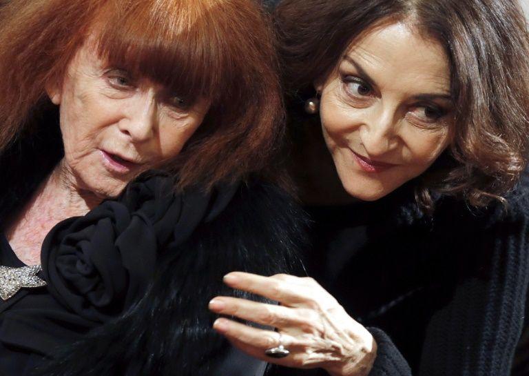Sonia Rykiel et sa fille Nathalie lors d'une remise de décoration le 26 novembre 2013 à l'Elysée à Paris
