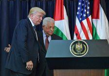 Le président américain Donald Trump et le président palestinien Mahmoud Abbas à Bethléem, en Cisjordanie, le 23 mai 2017