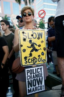 Police find guns at home of California teen as US students protest gun control