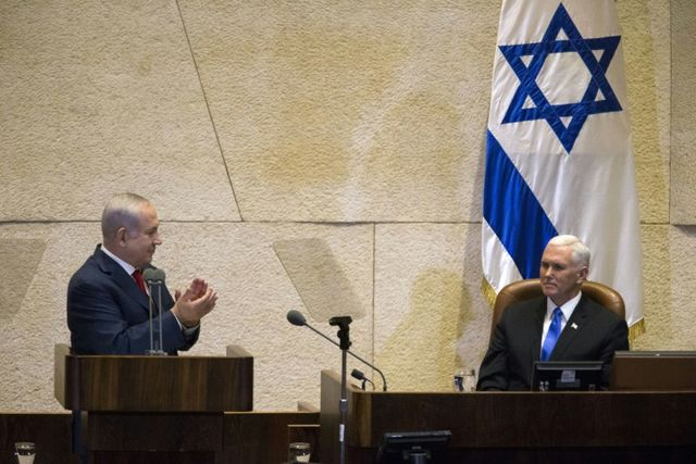 Palestinian MKs protest Pence speech, get removed from the Knesset