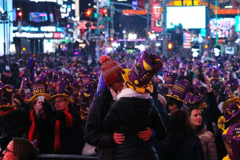 New Year festivities in New York, where a crowd estimated at nearly a million packed into Times Square, went off without a hitch amid tight security