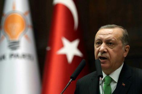 Le président turc Recep Tayyip Erdogan à Ankara le 16 janvier 2018