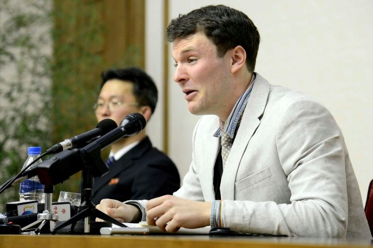 USA  college student released by North Korea home, but in coma