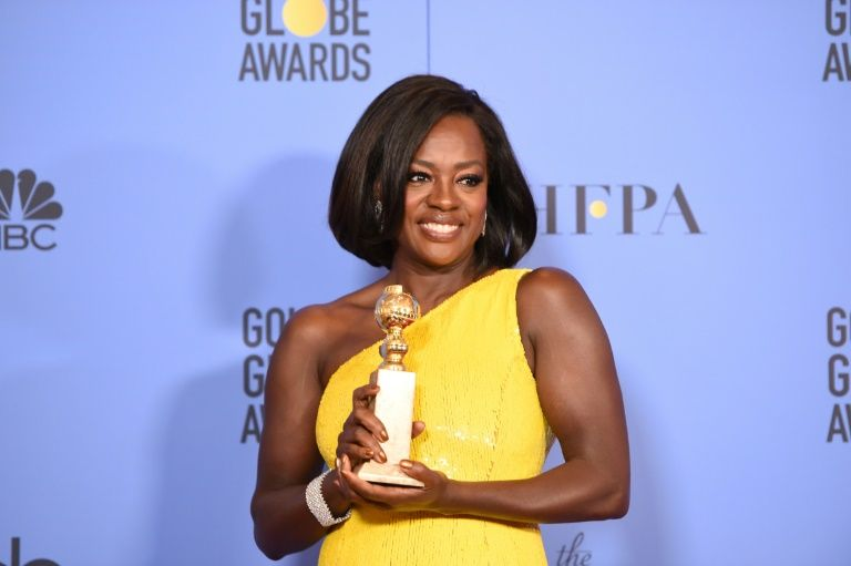 """Viola Davis for """"Fences"""", awarded Golden Globe for best supporting female role January 8, 2017"""