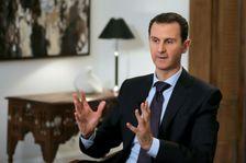 Le président syrien Bachar al-Assad, le 11 février 2016 à Damas