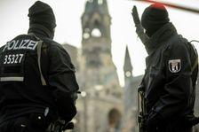 German police patrol near Berlin's Kaiser Wilhelm Memorial Church on December 21, 2016