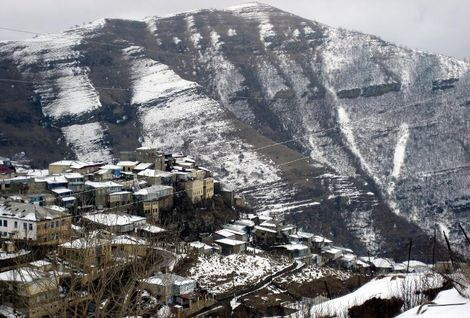 A view of a village in Dagestan as Islamist militants in four regions of Russia's Caucasus have pledged allegiance to the Islamic State group