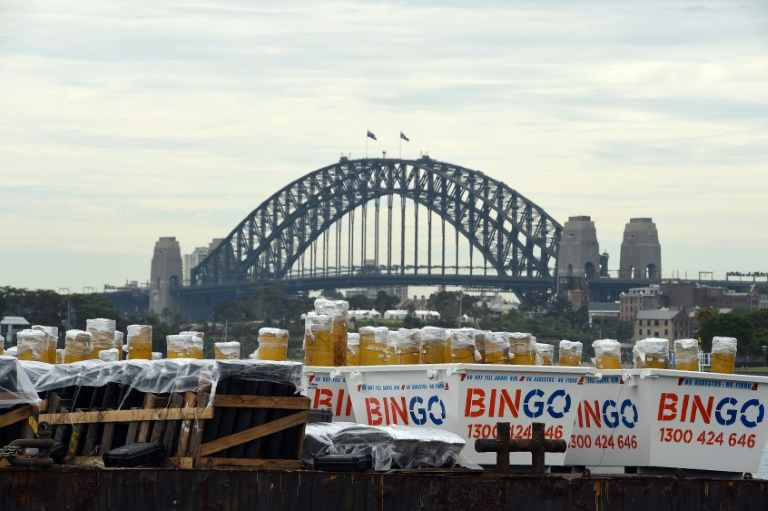 Fireworks arrive on a barge to the Sydney Harbour ahead of New Year's Eve extravaganza