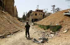 Chemical experts take samples from site of alleged Syria gas attack