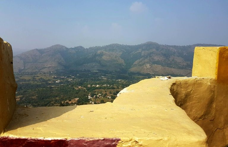 A general view of Bandla Valley in Bhimber near the Line of Control in Kashmir, taken from a Pakistani army post