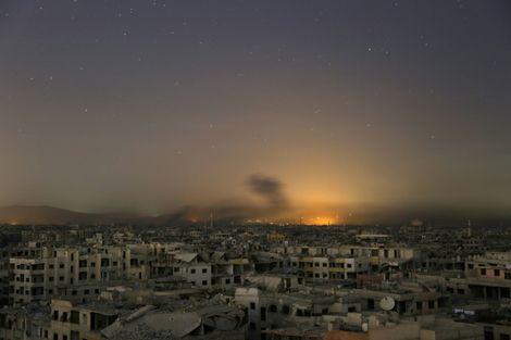 Russian strikes kill 37 civilians in Ghouta's Arbin: monitor