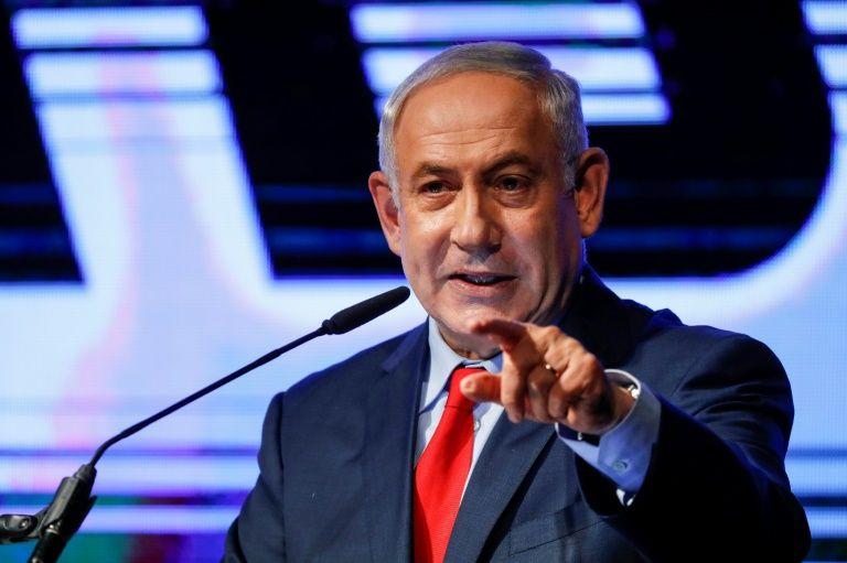At rally, Israel's Netanyahu lashes out at media