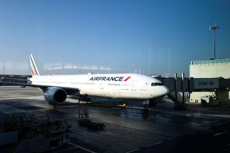 طائرة لاير فرانس في مطار رواسي شمال باريس في 20 كانون الثاني/يناير 2017