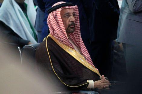 وزير الطاقة والنفط السعودي خالد الفالح في مؤتمر حول نفط العراق في مدينة البصرة (جنوب) في 04 كانون الاول/ديسمبر 2017