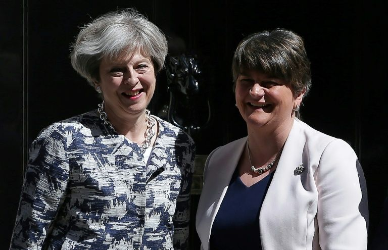 May's Conservative Party, Northern Ireland's DUP sign minority government deal