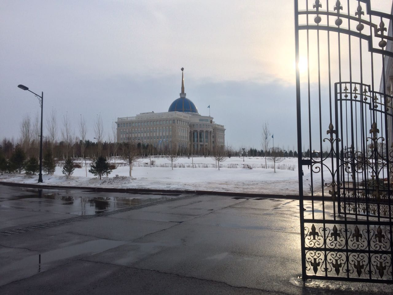 The Presidential Palace in Astana, the capital of Kazakhstan, on December 14, 2016