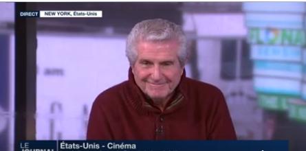 Depuis New-York, Claude Lelouch parle de cinéma et d'amour sur i24NEWS