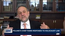 Poland's Chief Rabbi Michael Schuderich speaks to i24NEWS in Warsaw, February 7, 2018